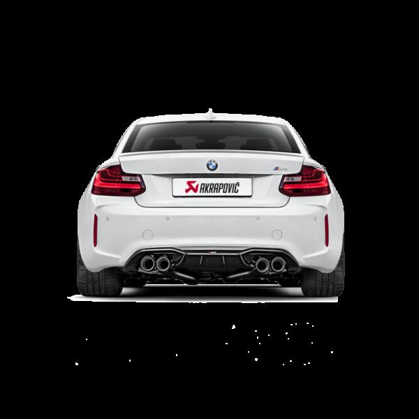 Akrapovic Evolution Line (Titanium) Komplettanlage mit Carbon Endrohre passend für BMW M2 F87