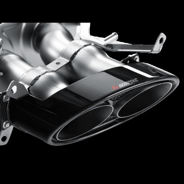 AKRAPOVIC EVOLUTION Komplettanlage Carbon Titan Endrohre passend für Audi RS4 B8 inkl. Montage