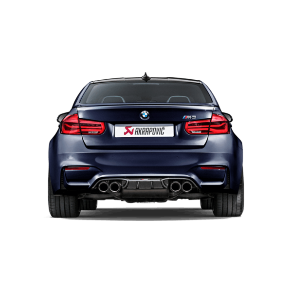 Akrapovic Carbon Diffuser (Hochglanz) passend für BMW M4 F82 F83 & M3 F80 NEUES DESIGN 2018 mit ABE Diffusor
