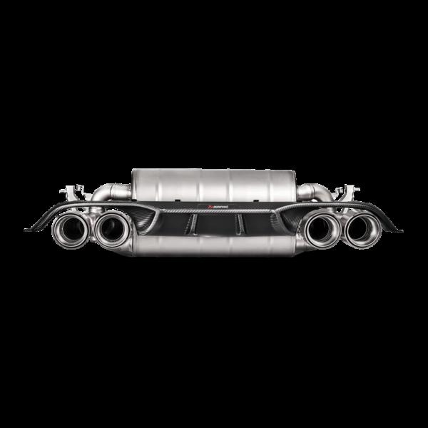 Akrapovic Carbon Diffuser (matt) passend für BMW M4 F82 F83 & M3 F80 (NEUES DESIGN 2018) mit ABE Diffusor