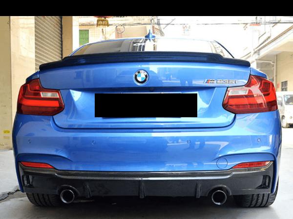 """""""Carbon KINGZZ"""" Heckspoiler passend für BMW M2 F87 / F22 2er Coupe / M235i M240i  """"Aggressiv"""""""