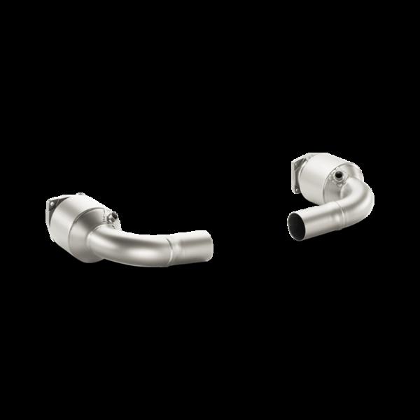 Akrapovic Verbindungsrohr Set MIT KAT (Titan) passend für Porsche 911 Turbo/Turbo S (991) Bj. 2014-2015