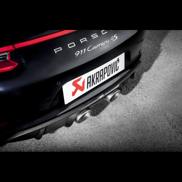 Akrapovic Slip-On Line (TITAN) – ( OHNE werksseitige Sportabgasanlage ) passend für Porsche 911 Carrera /S/4/4S/GTS (991.2) Bj. 2016-2017