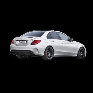 AKRAPOVIC EVOLUTION Komplettanlage TITAN passend für Mercedes C63 & C63S AMG W205 Limousine Sedan