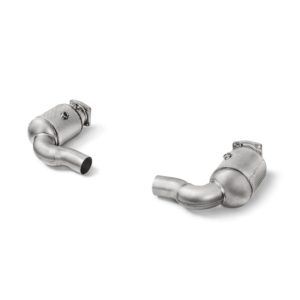 Akrapovic Verbindungsrohr Set mit Kat (Edelstahl- passend für Porsche 911 Turbo / Turbo S (991.2) Bj. 2016-2017