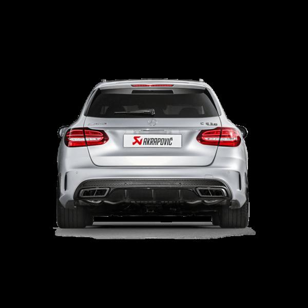 AKRAPOVIC EVOLUTION Titan Komplettanlage passend für Mercedes C63 & C63S AMG S205 Kombi / Estate