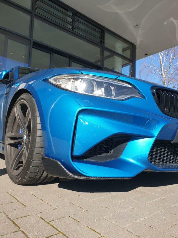 """Carbon KINGZZ"" Frontflaps Flaps passend für BMW M2 F87 (links+rechts)"