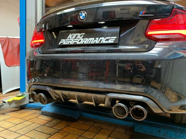 """Carbon KINGZZ"" Diffusor passend für BMW M2 F87 Heckdiffusor Diffuser"
