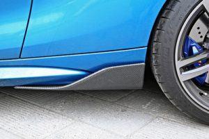 """""""Carbon KINGZZ"""" Seitenschweller passend für BMW M2 F87  / Side Skirts Flaps (links+rechts)"""