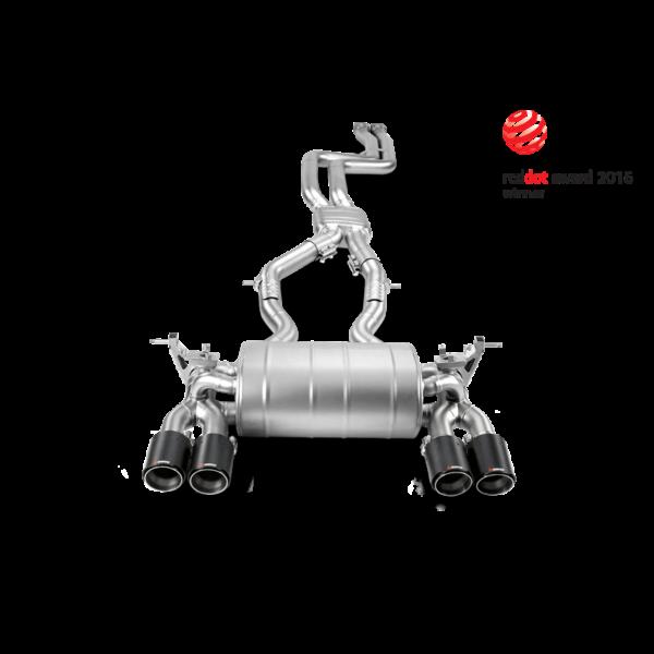 Akrapovic EVOLUTION Komplettanlage mit Carbon Endrohre passend für BMW M4 F82 F83 M3 F80 inkl. Montage