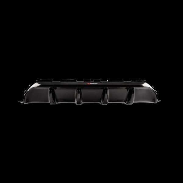Rear Carbon fiber diffuser – High Gloss / Hochglanz Carbon Diffuser Akrapovic mit ABE passend für BMW M5 F90
