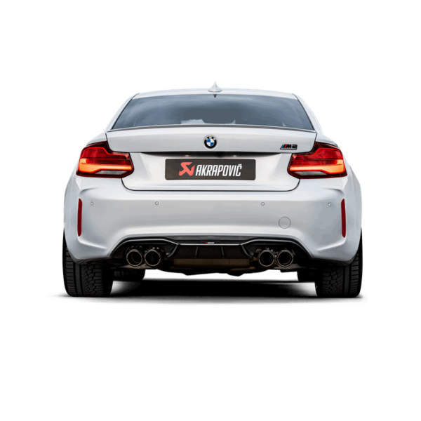 Akrapovic Slip-On (TITAN) passend für BMW M2 Competition F87 (mit OPF) inkl. Carbon Endrohre
