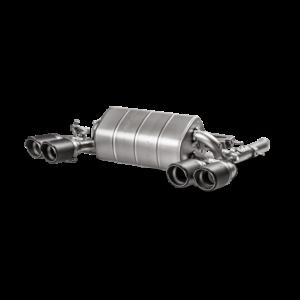 Akrapovic Slip-On Line (TITAN) Abgasanlage passend für BMW M4 F82 F83 (mit OPF) inkl. Carbon Endrohre & ECE Zulassung
