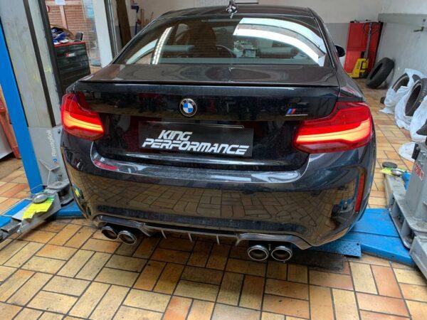 Akrapovic Slip-On (TITAN) passend für BMW M2 Competition F87 (mit OPF) inkl. Carbon Endrohre & ECE Zulassung