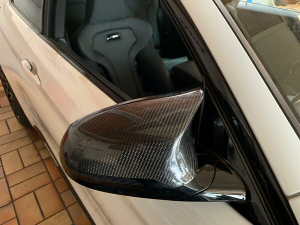 """Carbon KINGZZ"" (Set) Spiegelkappen passend für BMW M4 F82 F83 / M3 F80 / M2 Competition (links+rechts)"