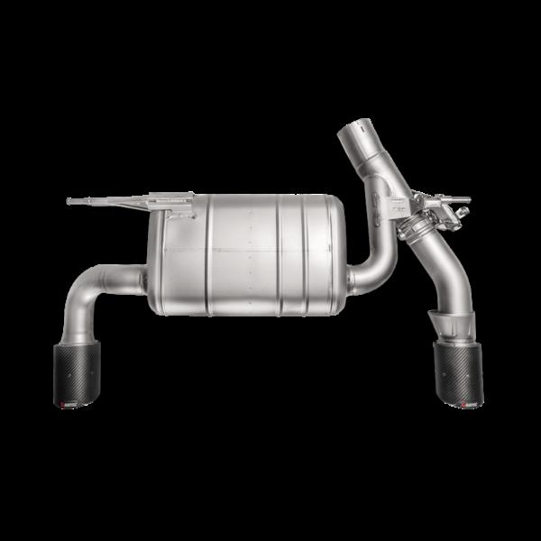 Akrapovic Slip-On Line (TITAN) passend für BMW F30 F31 340i & F32 F33 F36 440i & (mit OPF) inkl. Carbon Endrohre & ECE Zulassung