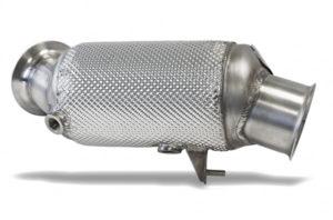 HJS Downpipe mit ECE Zulassung & 300 Zellen Sportkat / Katalysator passend für BMW M135i M235i 335i 435i