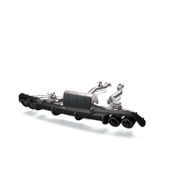 Akrapovic Rear Carbon Fiber Diffuser – High Gloss Hochglanz passend für BMW M8 /  M8 Competition F91 F92